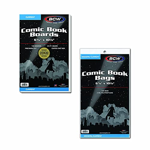 100 BCW Current Comic Book Bags and Boards