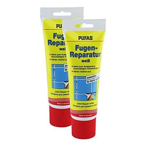 2x Pufas Fugen-Reparatur weiß, je 400g