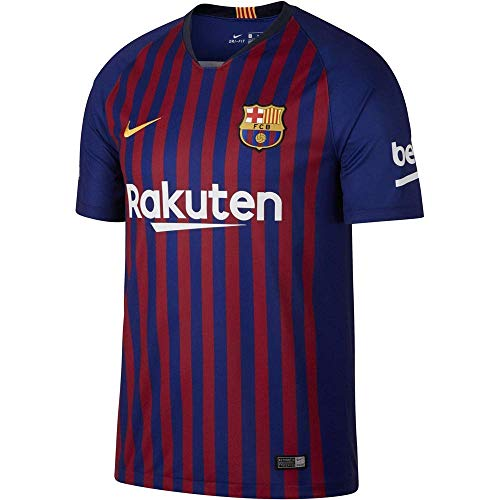 Nike Herren FC Barcelona Stadium Home T-Shirt, Deep Royal Blue/University Gold, 2XL