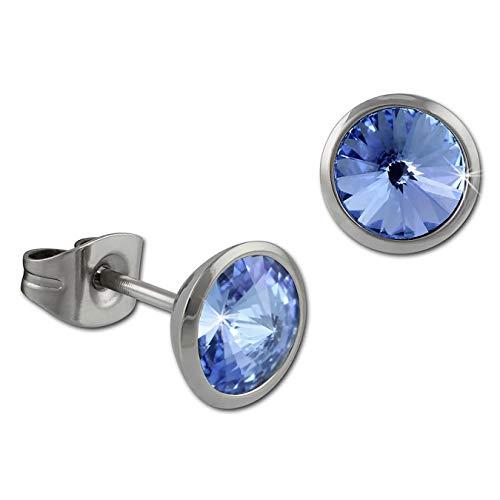 Amello joyería de acero inoxidable-Amello pendientes-clous redondo de acero inoxidable de mariposa...