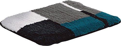 Erwin Müller WC-Vorlage, WC-Matte rutschhemmend Petrol Größe 50x50 cm - für Fußbodenheizung geeignet, flauschig, weich (weitere Farben)