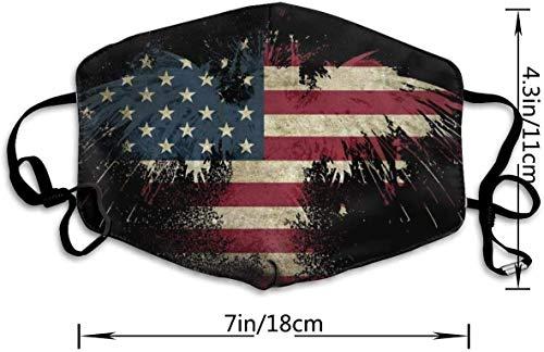 mundschutz Gesichtsbedeckung Mundbedeckung Mundschutz, Nordischer Wärmer American Eagle Art USA Flagge Atmungsaktive Gesichtsdekorationen Verstellbare Winddichte Abdeckung