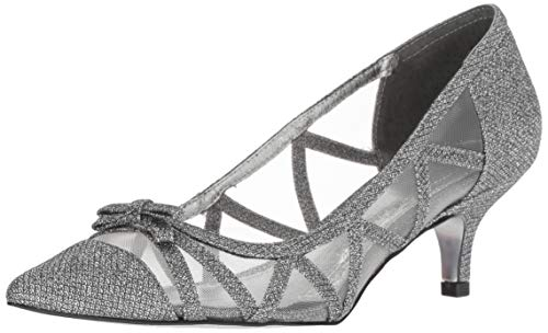 Adrianna Papell Women's Lana Pump, Gunmetal Jimmy net, 6 M US