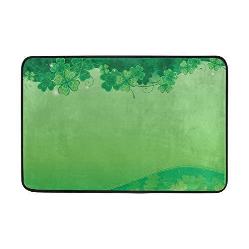 My Daily Paillasson en Mousse Motif trèfle Vert 15,7 x 23,6 cm