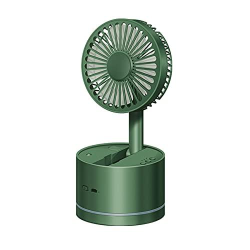 SODIAL Ventilador de Escritorio Plegable Ventilador de PulverizacióN Humidificador Recargable USB Ventilador de Cabeza Vibrante de 360 Grados Enfriador de Aire-Verde