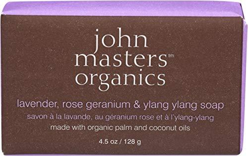 John Masters Organics Savon Lavande/Géranium/Ylang Ylang, 128 g