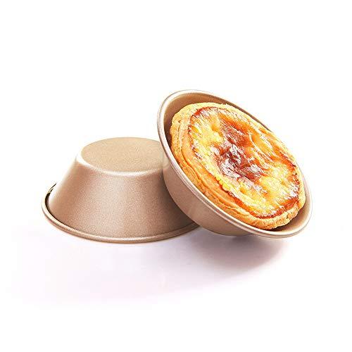 WF-Brotschimmel Backform 3 Zoll Antihaft Eierkuchen Eierkuchen Cup Form Portugiesische Puddingform DIY Backofen Utensilien Backblech 8 Pack