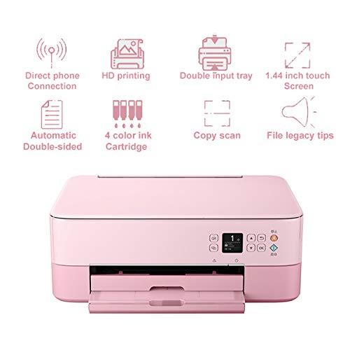 TANCEQI multifunctionele inkjetprinter, fotoprinter (HD printen/kopiëren/scannen/WiFi, 4 kleuren, 1,44-inch touchscreen, automatische dubbelzijdige, Legacy-tips)