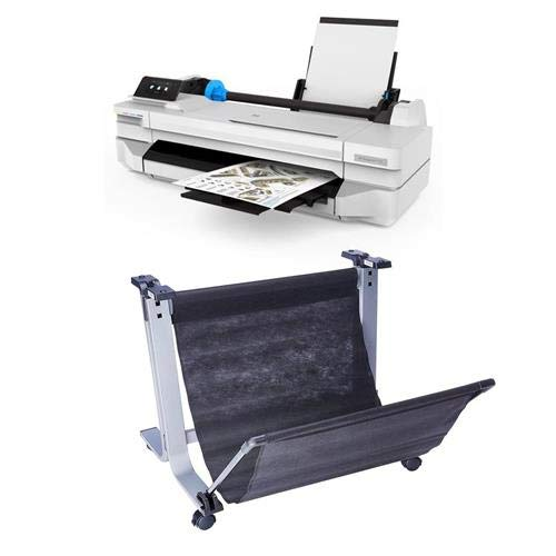 Best Price! HP DesignJet T125 24 Wireless Large-Format Inkjet Printer W/Stand Bundle