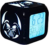 SHUI Reloj Despertador estéreo 3D LED Luz Nocturna Negro Samurai...
