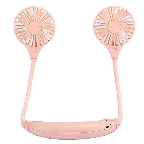 Ventilador para Colgar en el Cuello, portátil portátil con Banda para el Cuello Ventilador para Colgar en el Cuello, Recargable por USB, Mini Ventilador de Mano Plegable Ultra silencioso para Cocina,