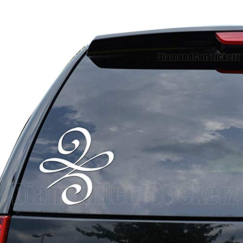 Celtic New Beginnings Symbol Decal Sticker Car Truck Motorcycle Window Ipad Laptop Wall Decor - Size (05 inch / 13 cm Tall) - Color (Gloss White)