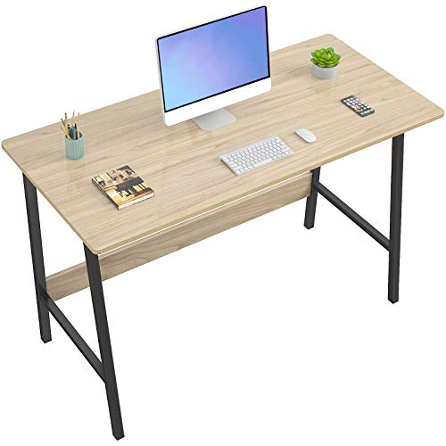 Homfio Computer Desk 39 Inch Modern Sturdy Writing Desk, Small Desk for Small Place, Home Office Desk with Metal Legs Industrial Tiny Table, Space Saving, Easy to Assemble, Walnut