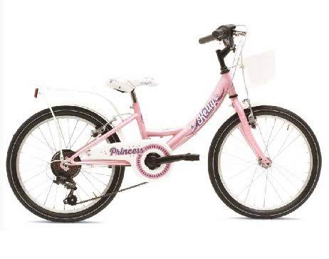 BRERA VERTEK Bicicletta Bambina Bimba Kelly Princess Ruote 14 Rosa Bianca 1 velocità
