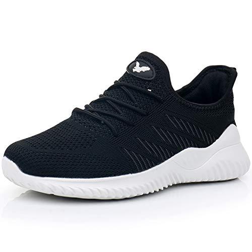 M MAGPER Women Slip on Walking Shoes Lightweight Memory Foam Casual Tennis Running Sneakers(Black US 7 B(M))…