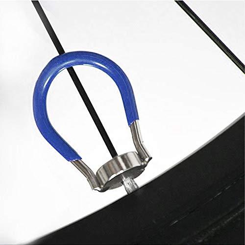 ANCIRS Bicycle Spoke Wrench - 6 in 1 Bike Wheel Spokes Key, Rim Tool with Blue Pocket Gauge (10-15 gauge)