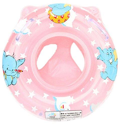 Newin Star Flotador de natación,Anillo de natación,Nadar Anillo para niños y bebé con Dibujo Elefante Asiento Inflable de Piscina(Rosa)