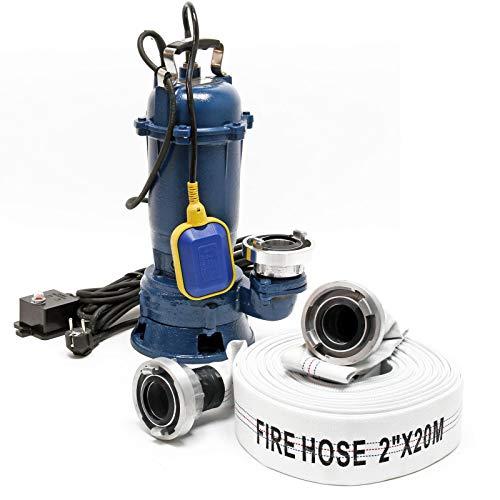 Schmutzwasserpumpe 550W Tauchpumpe mit 10.000l/h Fördermenge inkl. 20m Schlauch Pumpe