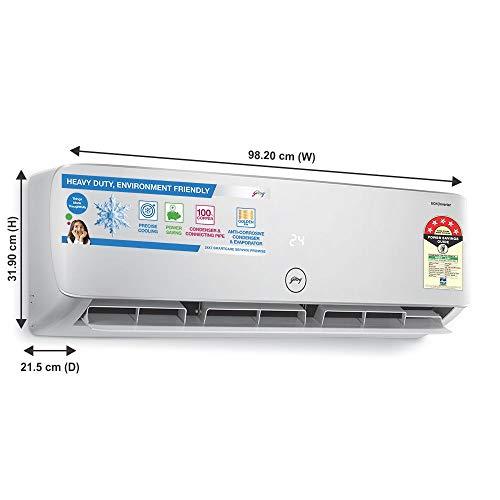 Godrej 1.5 Ton 5 Star Inverter Split AC (Copper, Anti Bacterial Filter, 2020 Model, GIC 18HTC5-WTA, White)
