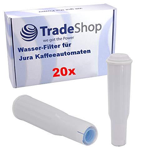 Trade-Shop 20x Filterpatrone für Jura Impressa Z5, Z5 2@1, Z9, C5, C9, S7, S9, F5, F7, F9, E5, E10, E50, X5, X7, X9, 401, 201, 601 / Wasser-Filter ersetzt 60209