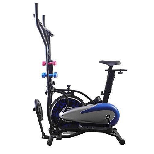 YQTXDS Bicicleta de Spinning 3 en 1, Bicicleta estática, Deportes de Interior, Bicicleta, Equipo de Fitness para el hogar, Silencioso, Elíptico (Entrenador de Bicicleta)