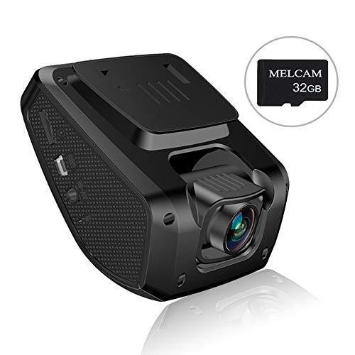 """MELCAM FHD 1080P, 3"""" LCD Screen, Driving Recorder with Sony Video Sensor, Parking Mode, 150° Angle, Loop Recording, Night Vision, WDR"""