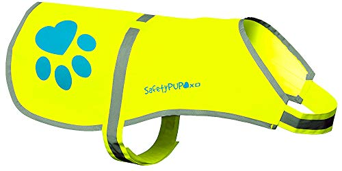 SafetyPUP XD Dog Reflective Vest, Sizes to Fit Dogs 14 lbs to 130 lbs Hi Vis, Safety Vest Keeps Dogs Visible On and Off Leash in Both Urban and Rural Environments