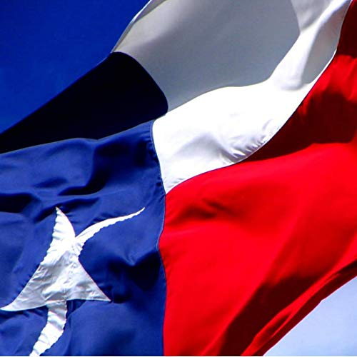 Texas Flag 3x5 ft - Tough, Long Lasting Nylon Built for Outdoor Use - Sun Ray Resistant - Innovative Zigzag Stitching on Fly End