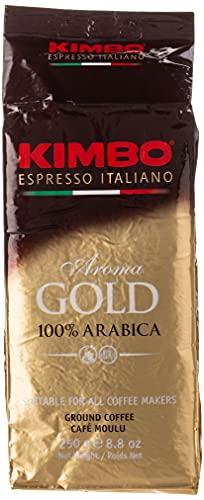 6 X Caffè Kimbo Espresso Gold 100% arabica 250 G Caffé macinato (1,5kg)