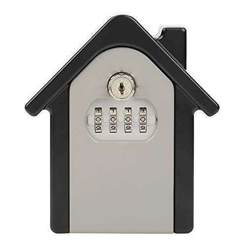 Ruspela Caja de almacenamiento segura montada en la pared de la cerradura de la llave de la contraseña doble de la aleación