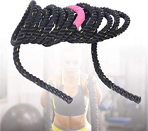 Equipo de polea con cable, Cuerdas de ondulación de ejercicios 12M, entrenamiento muscular de fuerza Cuerda de batalla, mejora la fuerza entrenamiento muscular, diámetro 50mm ,Para Tríceps, Flexión De