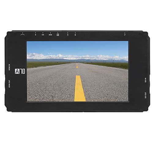 T osuny Monitor de Campo con cámara de Video IPS de 7 Pulgadas, Pantalla táctil de Monitor de Interfaz Full HD 1920x1150 de 3,5 mm, compatibilidad Universal Pantalla de Monitor de Campo HDMI 4K