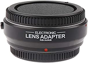 Foto4easy Electronic Auto Focus AF Lens Mount Adapter for Four Thirds (4/3) Mount Lens to Micro Four Thirds (MFT,M4/3) Mount Camera,Olympus OM-D E-M1 MarkII,E-M5 Panasonic GH3,GH4,GH5,GH5s DSLR Camera