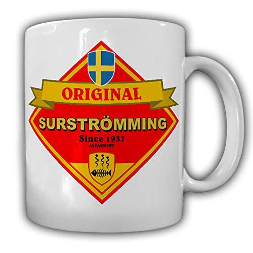 Tasse Surströmming Fisch Schweden saurer Hering faulig stinkend challange #25788