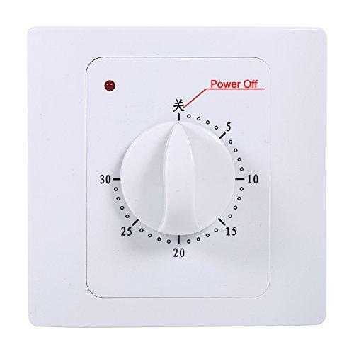 1 pieza AC 220V 10A 30Min temporizador interruptor temporizador enchufe eléctrico cuenta regresiva tiempo digital enchufe temporizador interruptor Control enchufe techo ventilador accesorios