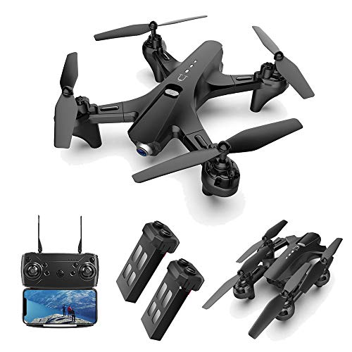 PWTAO Drone with Camera 1080P FPV RC Quadcopters Drones with Camera for Adults 2.4GHz Remote/Phone/APP Controlled HD Camera Video Gesture Control Headless Mini Drone for Kids Adults Beginners