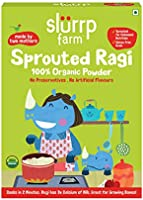 Slurrp Farm Organic Sprouted Ragi Powder | Instant Healthy Wholesome Food, 250 G