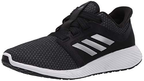 adidas Women's Edge Lux 3 Running Shoe, Black/Silver Metallic/White, 7.5 M US