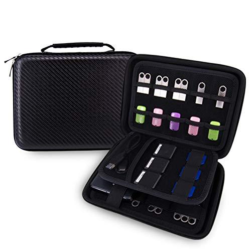 elvam EVA a prueba de golpes resistente al agua portátil disco duro caso bolsa bolsa bolsa/USB Flash Drive Case/Cable/Power Bank Case bolsa/funda de GPS y cámara digital caso–grandes Classic
