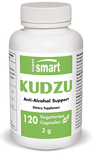 Supersmart - Kudzu Extract 500 mg Full Spectrum - Powerful Herbal Extract Antioxidant & Support an Healthy Cardiovascular System | Non-GMO & Gluten Free - 120 Vegetarian Capsules