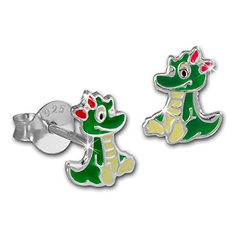 Bambini orecchino drago orecchini in argento Sterling 925ragazza TW sdo8153g