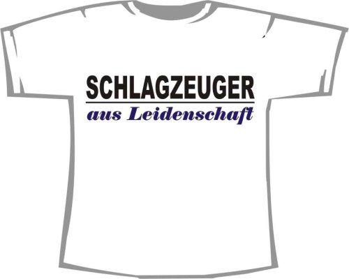 Schlagzeuger aus Leidenschaft; Kinder T-Shirt weiß, Gr. 12-14