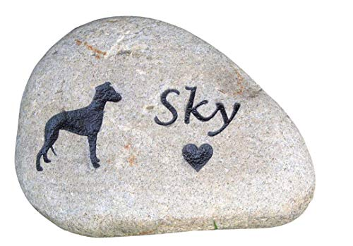 Pet Memorials, Dog Grave Marker, Pet Stone, Riverstone Memorials 6-7 Inches All Breeds Available