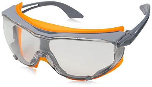 Uvex 9175275 Sicherheitsbrille, Sky Guard, transparent, Grau/Orange