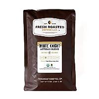 White Knight Light Roast FTO, Whole bean coffee, Fresh Roasted Coffee LLC. (5 lb.)
