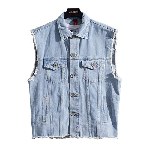 Men's Sleeveless Denim Jacket Casual Jeans Vest