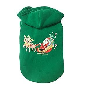 UEETEK Chien chiot robe jupe animaux vêtements d'hiver gilet chemises Noël Party Noël cadeau Santa Claus Design taille S