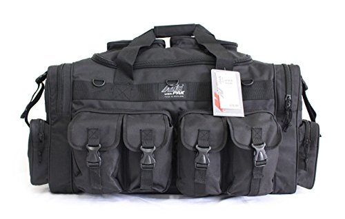 "NPUSA 30"" Tactical Duffle Military Molle Gear Shoulder Strap Range Bag TF130 BK Black"