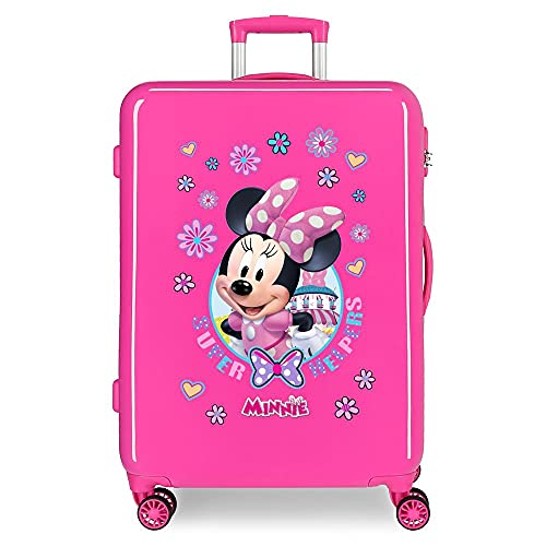 Disney Minnie Super Helpers Maleta Mediana Rosa 48x68x26 cms Rígida ABS Cierre de combinación Lateral 70 3 kgs 4 Ruedas Dobles