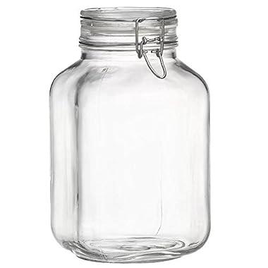 Bormioli Rocco Fido Clear Jar, 33-3/4-Ounce (3 Liter)